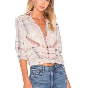 Free People Wesley Plaid Buttondown